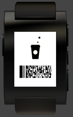 Strabucks Card on Pebble